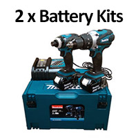 Makita Cordless Kits With 2 Batteries