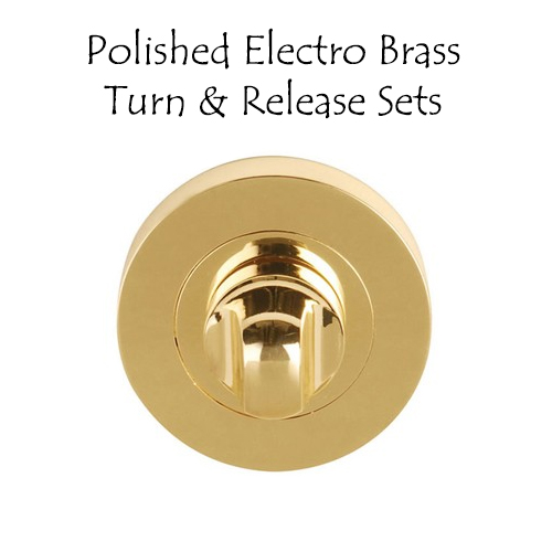 Polished Electro Brass Turn & Release Sets