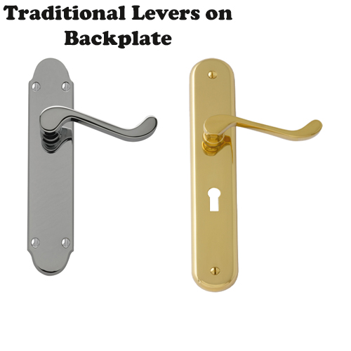 Traditional Levers on Back Plates