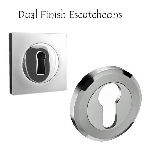 Dual Finish Escutcheons