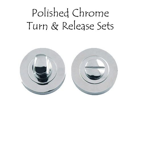 Polished Chrome Turn & Release Sets