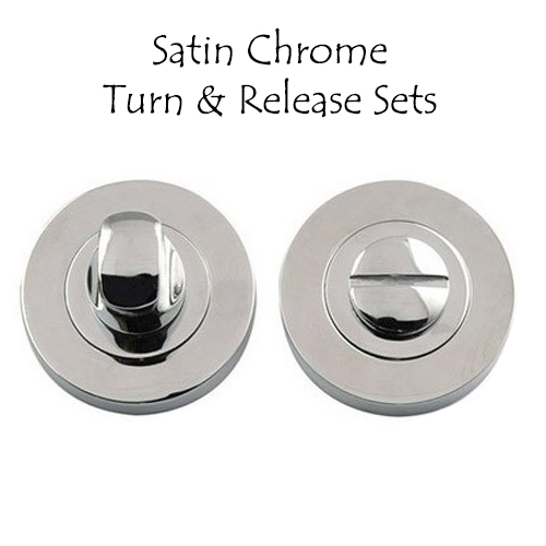 Satin Chrome Turn and Release Sets