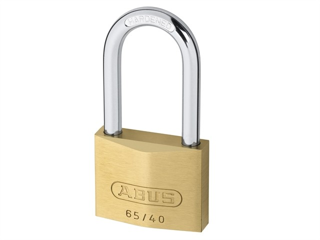 Long Shackle Brass Padlock 40mm