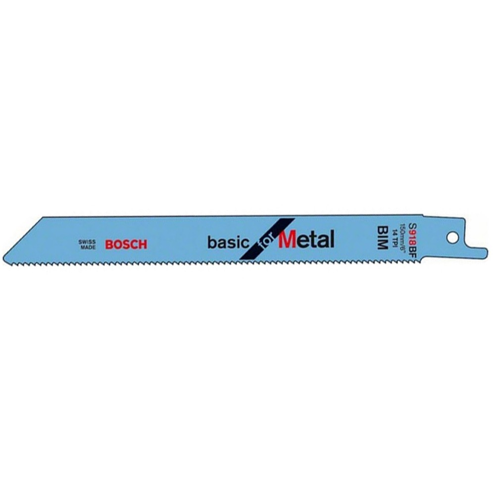 "Bosch Metal 1/2"" universal Shank S918B Reciprocating Saw Blade, Pack of 5 2608651781"