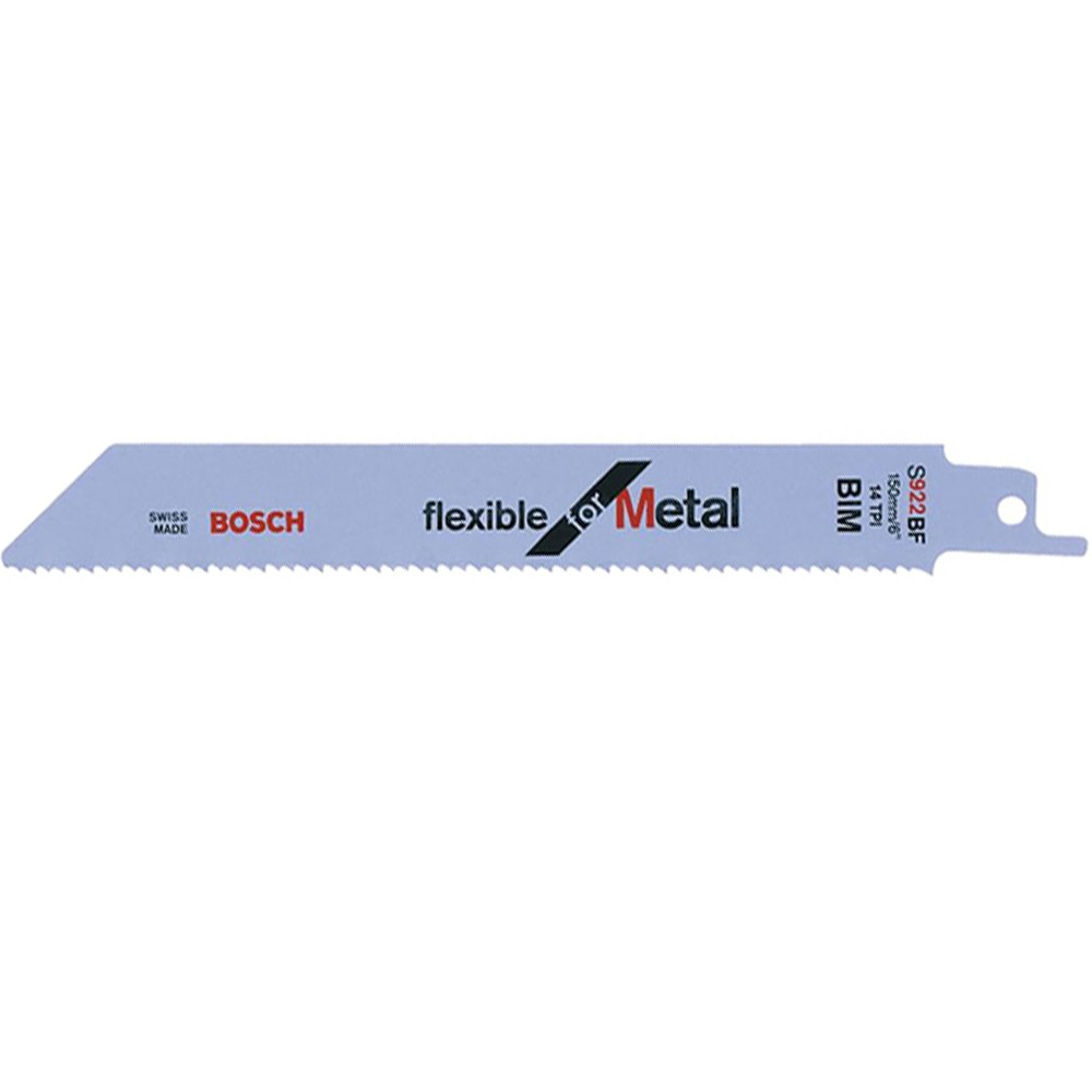 Bosch Flex Metal UniShank S922 BF Reciprocating Saw Blade, Pack of 5 2608656014