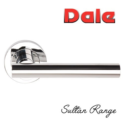 Polished Chrome Sultan Lever On Round Rose Dh003690