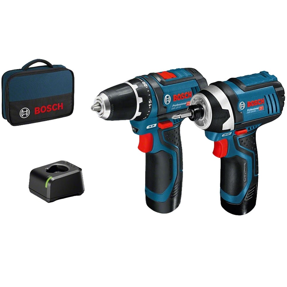 Bosch GSB12 & GDR12v Professional Twin Pack