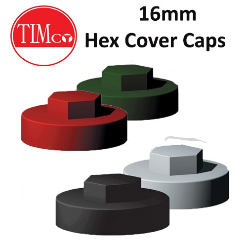 Hex Screw Cover Caps - 16mm