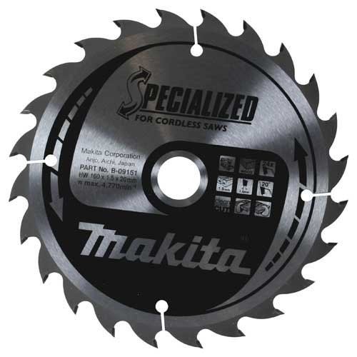 Makita B09173 Specialized 165x20x24T Cordless Circular Saw Blade