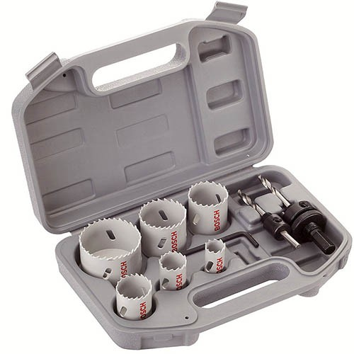 Bosch 9 Piece Electricians Holesaw Set 2608580804