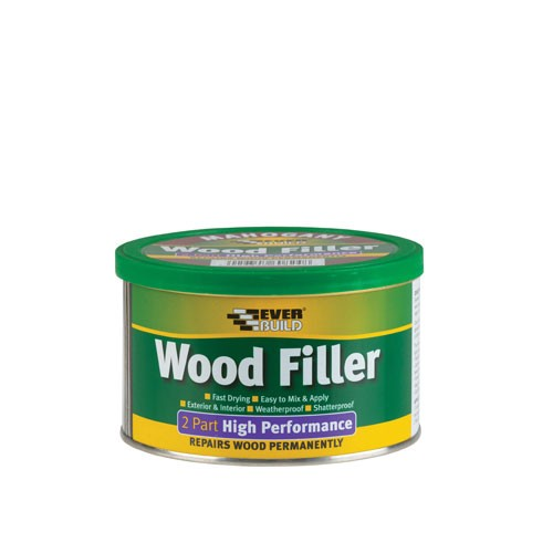 Everbuild 2 Part High Performance Wood Filler - Oak 500gm