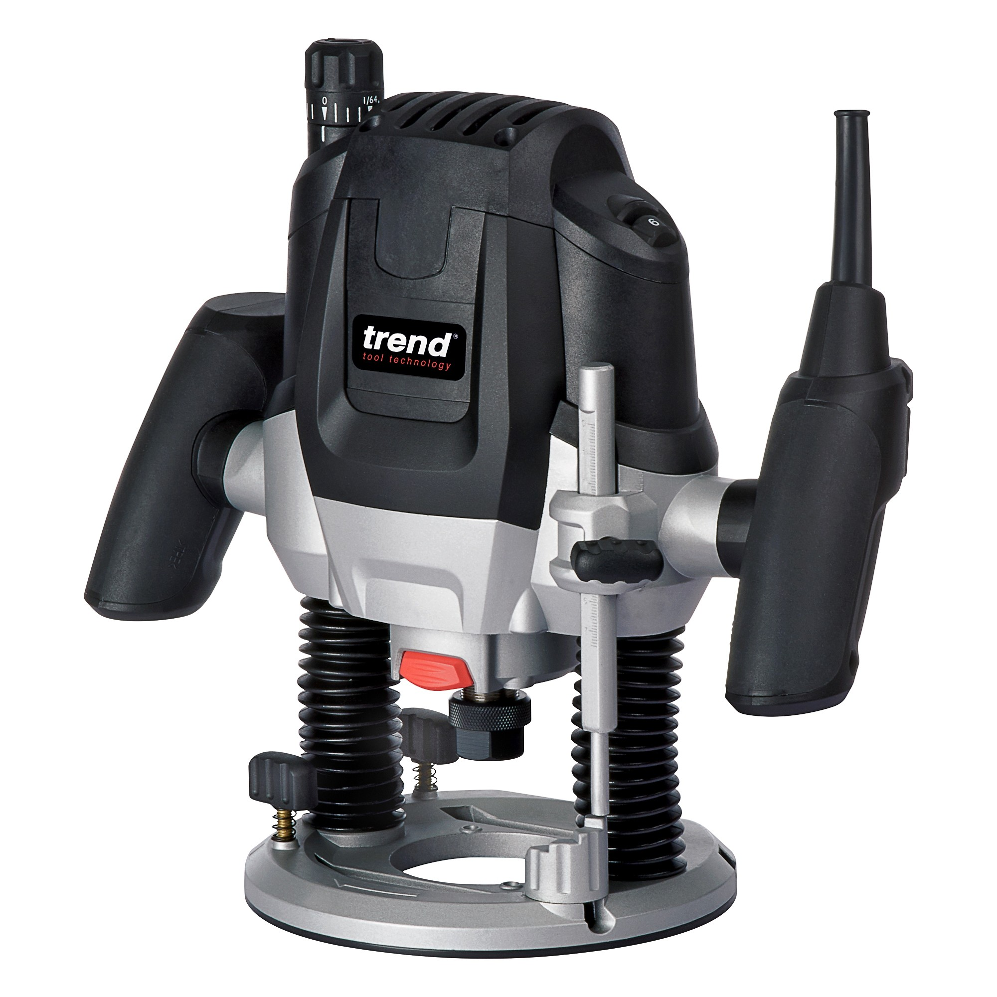 "Trend T7EK - 2100W 1/2"" Variable Speed Router 240V + FREE 1/2"" Cutter Storage Trays + 6 Piece 1/2"" Cutter Set"