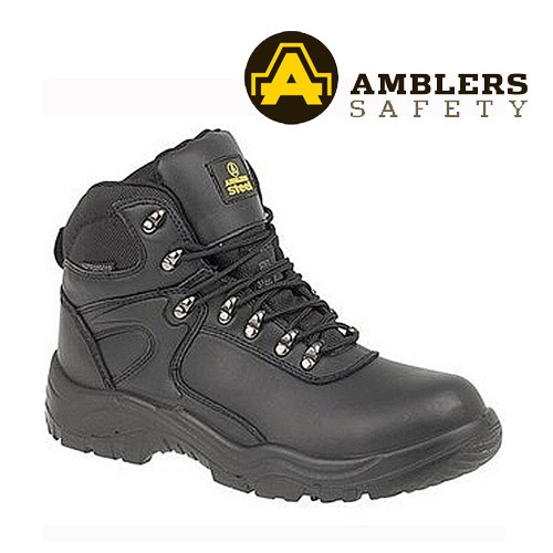 Amblers Black Safety Hiker Boot FS218