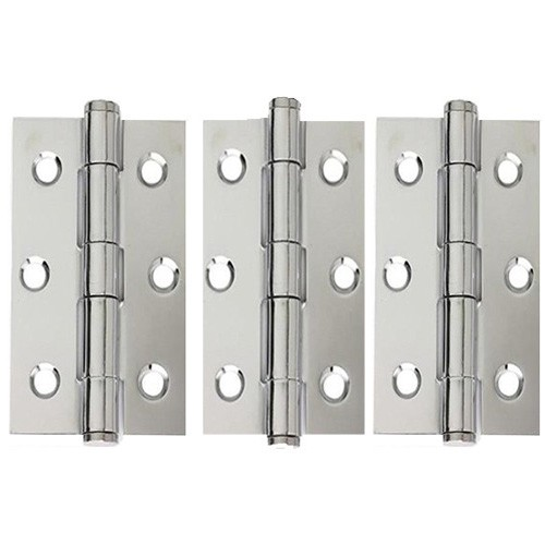 Steel Button Tipped Hinges 3 pack 75mm x 50mm