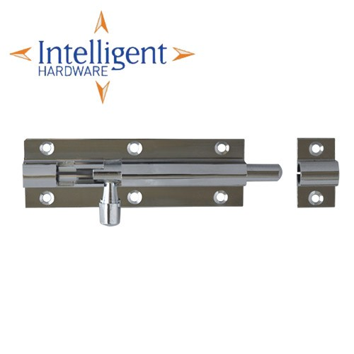Intelligent Hardware 76mm Polished Chrome Straight Barrel Bolt - BBS.76.CP