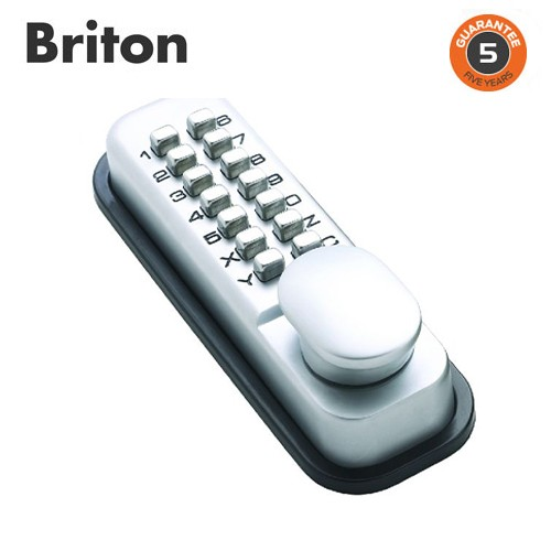 Briton Push Button Mechanical Lock Dual Backplate (9160.SV)