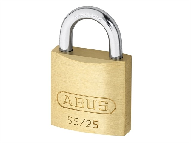 Abus 55/25 25mm Brass Padlock Carded ABU5525C