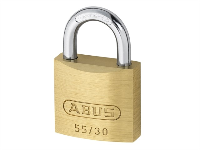 Abus 55/30 30mm Brass Padlock Carded ABU5530C
