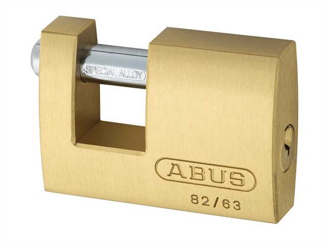 Brass Shutter Padlock 63mm Carded