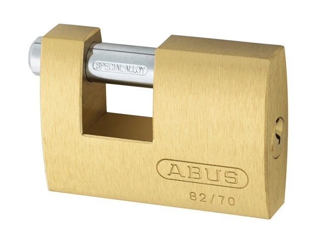 Brass Shutter Padlock 70mm Keyed