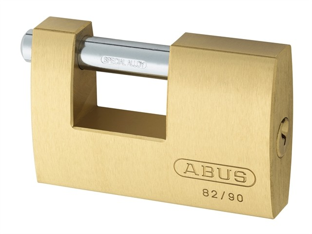 Brass Shutter Padlock 90mm Keyed