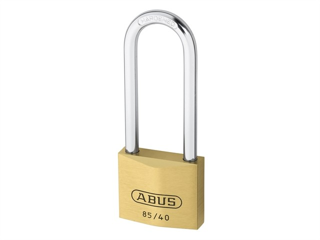 Brass Padlock 40mm Long Shackle Carded 85/40