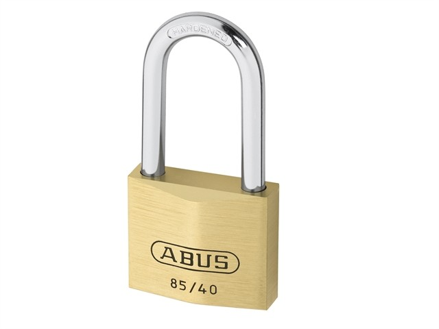 Brass Padlock 40mm Long Shackle 85/40