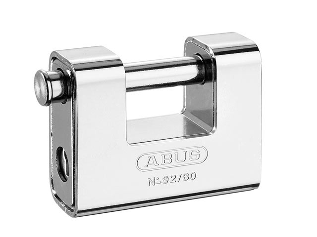 Brass Shutter Padlock 80mm Carded 92/80