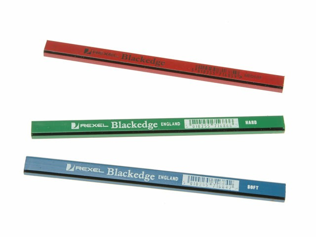 BlackEdge Carpenters Pencils - Assorted Card of 12 BLAA