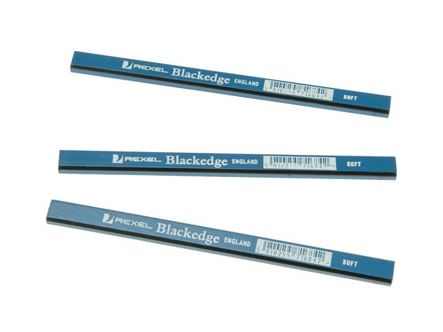 BlackEdge Carpenters Pencils - Blue / Soft Card of 11 BLAB