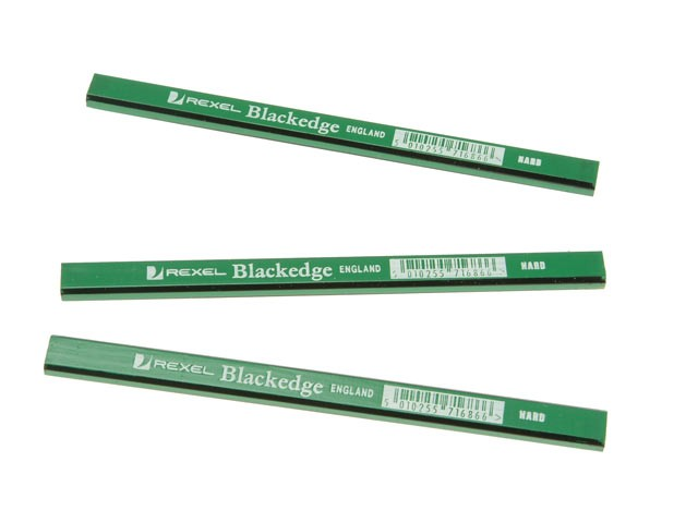 BlackEdge Carpenters Pencils - Green / Hard Card of 11 BLAG