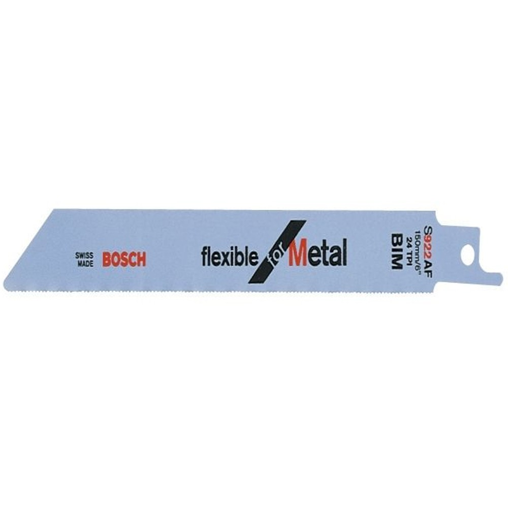 Bosch Flex Metal UniShank S922 AF Reciprocating Saw Blade, Pack of 5 2608656013