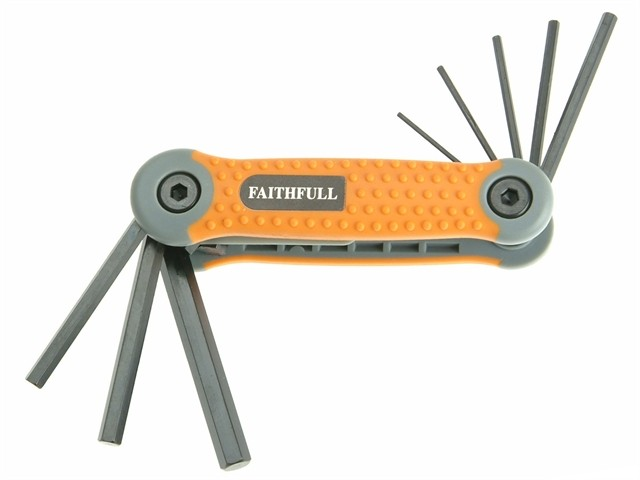 Faithfull Folding Hex Key Set 8 Metric (1.5-8mm)FAIHKSF8M