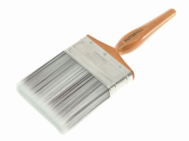 Faithfull 152504 Superflow Synthetic Paint Brush 100mm (4in)