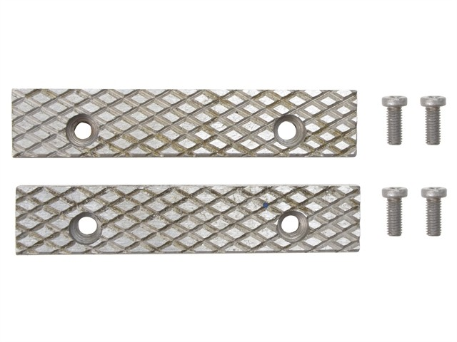 Faithfull FAIVM4JAWS Replacement Steel Jaws For Vm4 Vice