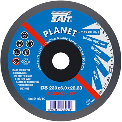 sait 230 x 6 x  22.23  Grinding Wheel Depressed centre