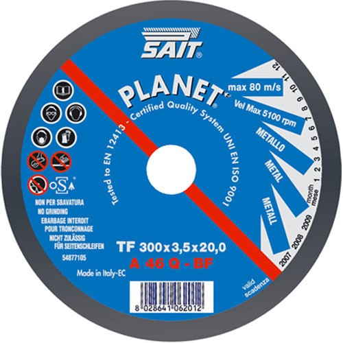 Sait 300 X 3 X 20 Metal Cutting Disc