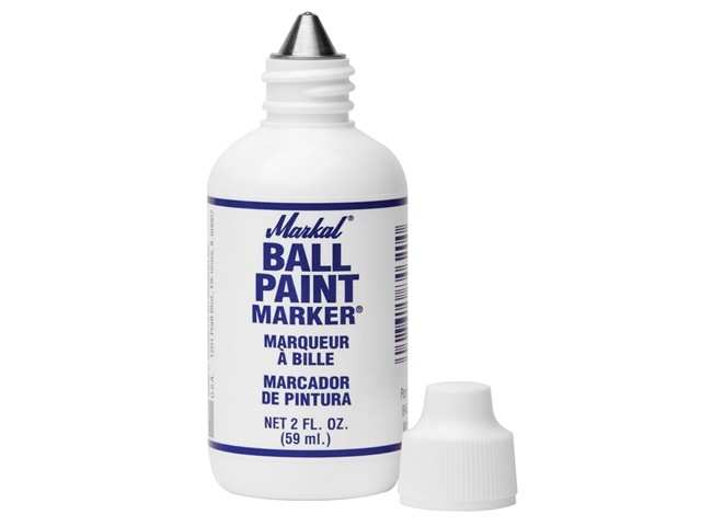 Markal Ball Paint Marker - White MKL84600C