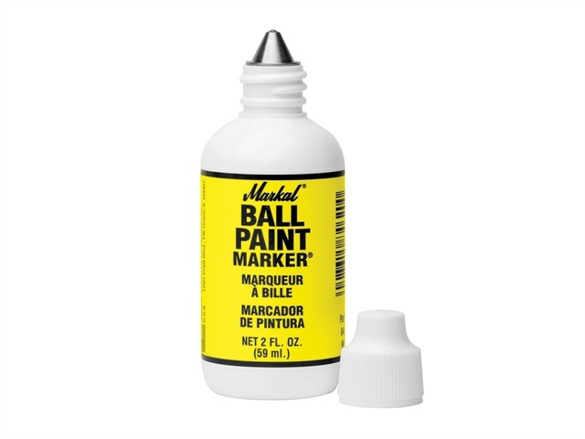Markal Ball Paint Marker - Yellow MKL84601C