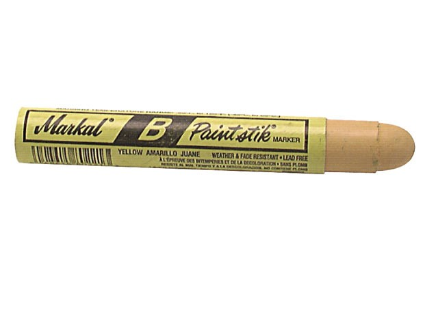 Markal Paintstick Cold Surface Marker Yellow MKLBYELLOW