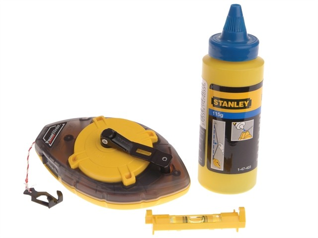 Stanley  Power Winder Chalk Line 30 Metre , Chalk & Level STA047465