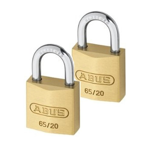 Brass Padlock 20mm Twin Pack Carded
