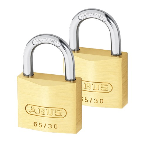 Brass Padlock Twin Pack 30mm Carded
