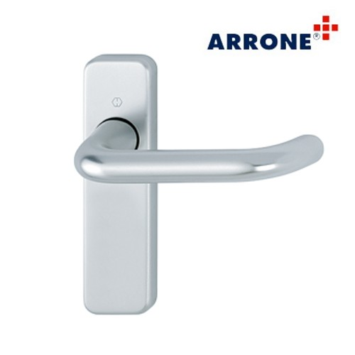 Aluminium Handle Set on Short Backplate - Arrone AR200S/11-SP-SAA