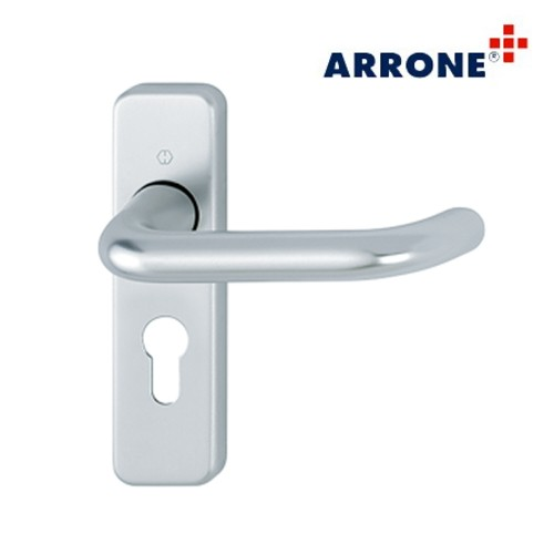 Aluminium Handle Set on Backplate Keyhole - Arrone AR200S/13-SP-SAA