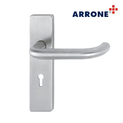 Stainless Steel Lever on Rectangular Lock Backplate