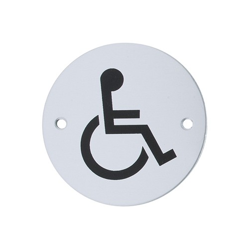 Circular Disabled Sign 76mm diameter (AR903D-SSS)