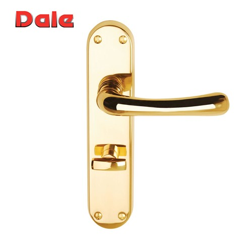 Polished Brass Lever Bathroom Furniture On Backplate - Clara DH000902