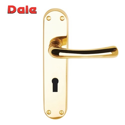Polished Brass Lever Lock Furniture On Backplate - Clara DH000900