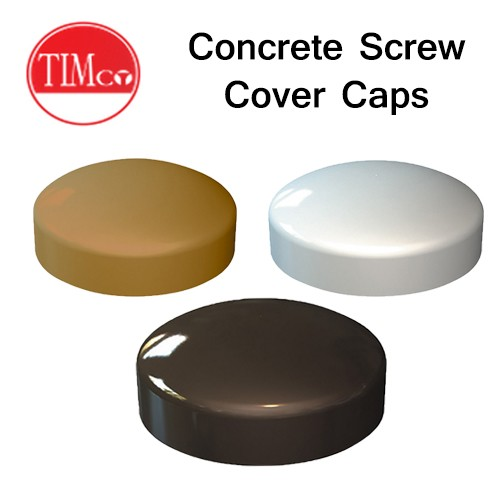 Concrete Screw Cover Caps 100qty